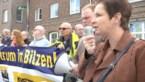 Protest van Vlaams Belang en buurtbewoners tegen asielcentrum in Grote-Spouwen