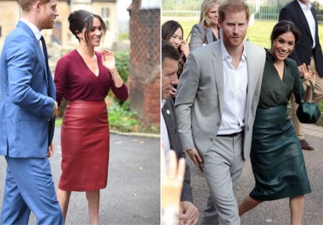 De lederen kokerrok is de favoriet van de vrouwelijke royals