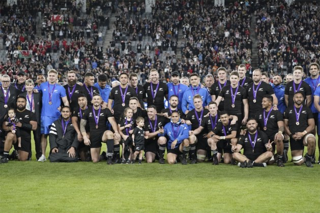 Onttroonde All Blacks veroveren brons op WK rugby