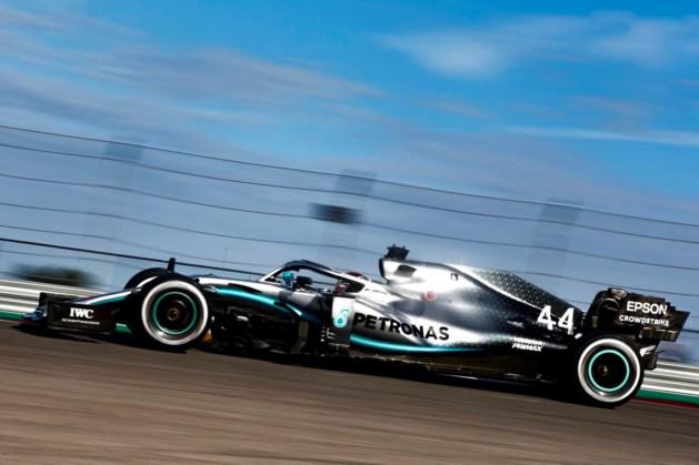 Hamilton snelste tijdens tweede oefensessie GP van de USA, zware crash Romain Grosjean