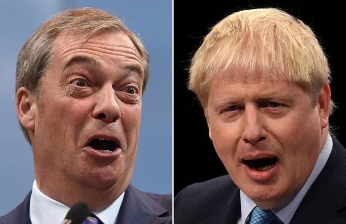 Nigel Farage stelt Johnson pro-brexit-alliantie voor