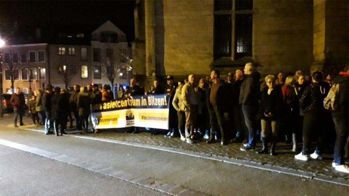 Protest tegen komst van asielcentrum in Grote-Spouwen
