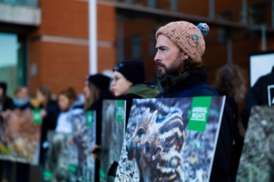 Stil protest in Hasselt tegen drukjachten op everzwijnen