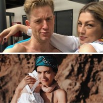 Gluren bij BV's: Astrid Coppens in gouden bikini