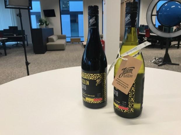 Limburgse wijn in de rekken bij Carrefour