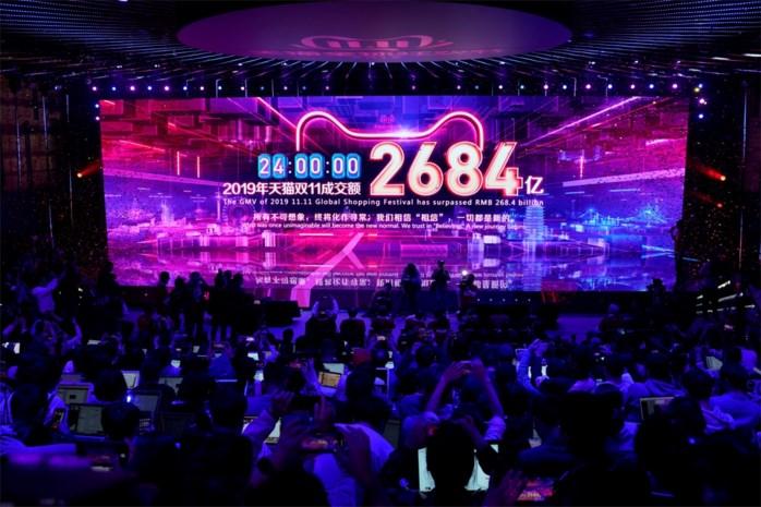Meer dan 38 miljard dollar uitgegeven op Alibaba's Singles Day