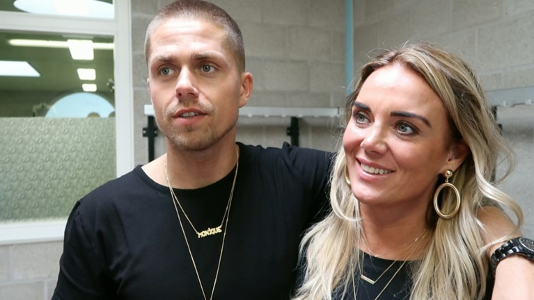 Nieuwe liefde André Hazes (25) is presentatrice Bridget Maasland (45)