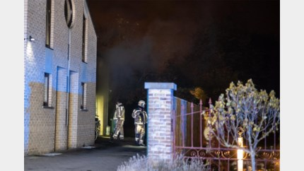 Brand in garage in Hoeselt