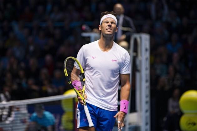 Exit Rafael Nadal op de ATP Finals