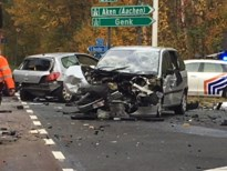 Drie lichtgewonden na ongeval op afrit E314 in Zolder