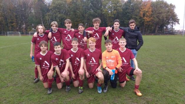 Voetbalploeg cadetten Agnetencollege stoot door naar halve finale