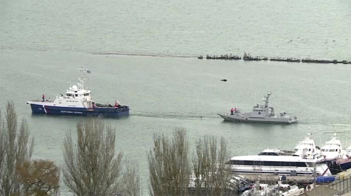 Rusland geeft drie in beslag genomen oorlogsschepen terug aan Oekraïne