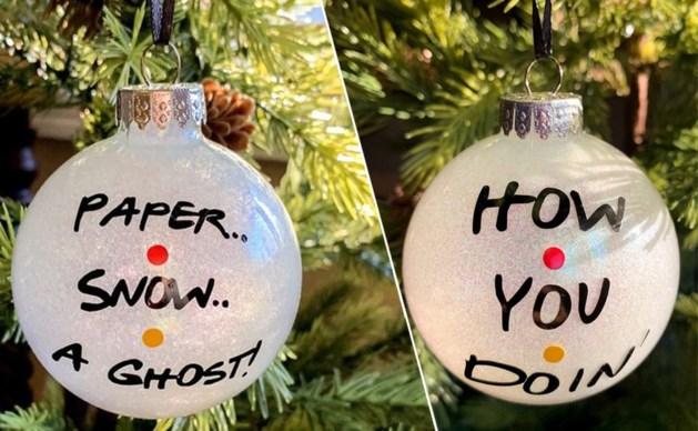 Een vleugje 'Friends' voor in de kerstboom