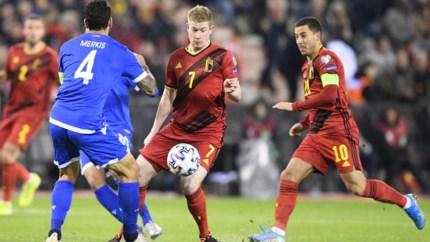 HERBELEEF. Rode Duivels met 30 op 30 naar EK na 6-1 tegen Cyprus
