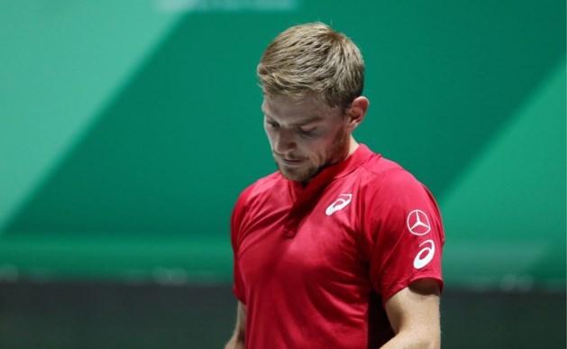 België grijpt naast groepszege in Davis Cup door dramatische start van David Goffin