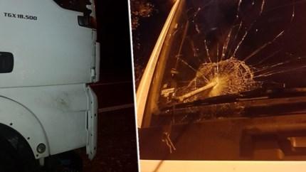 """Trucker net over Limburgse grens aangevallen door transmigranten """"met speren"""""""