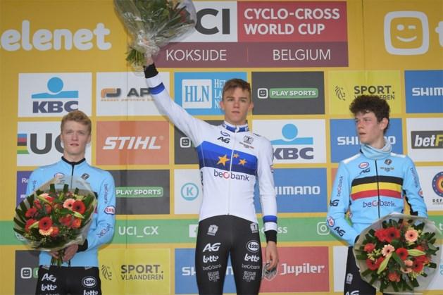 Thibau Nys topt Belgisch podium bij junioren in Koksijde