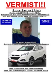 Man uit Dilsen-Stokkem al sinds vrijdag spoorloos