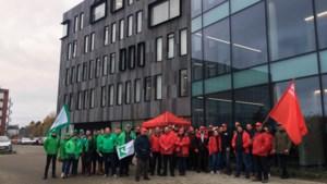 50 actievoerders in Hasselt tegen herstructureringsplan Proximus