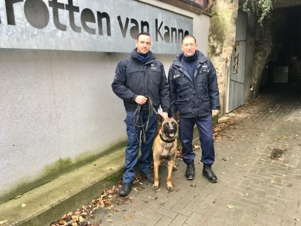 Politieschool stuurt honden mergelgroeven Kanne binnen
