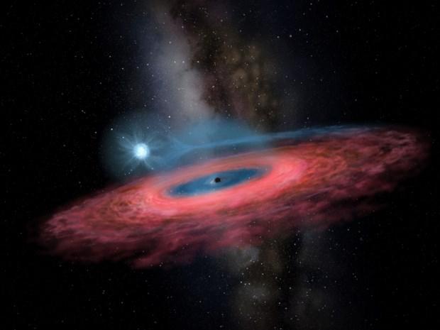Wetenschappers ontdekken 'te zwaar' zwart gat