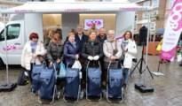 Eerste trolleywinnaars op de donderdagmarkt