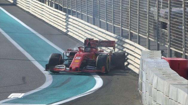 Sebastian Vettel crasht tijdens eerste oefensessie GP van Abu Dhabi, Valtteri Bottas snelste