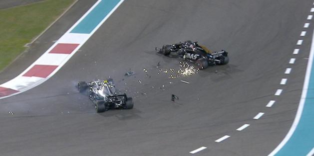 Valtteri Bottas snelste ondanks aanrijding met collega Romain Grosjean