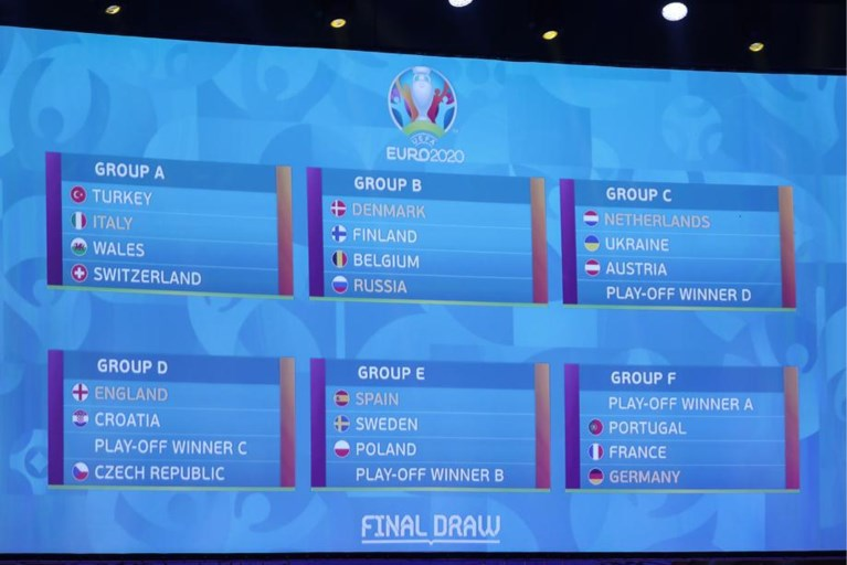 Finland is derde tegenstander Rode Duivels, groep F is de groep des doods met Frankrijk, Duitsland en Portugal