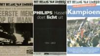 Van 'Genk kampioen' tot 'Man op de maan': 140 jaar in twintig voorpagina's