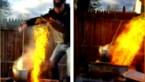 Man wil kalkoen frituren voor Thanksgiving, maar wordt zelf bijna geflambeerd