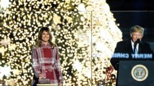 Melania Trump steekt lichtjes van Nationale Kerstboom aan