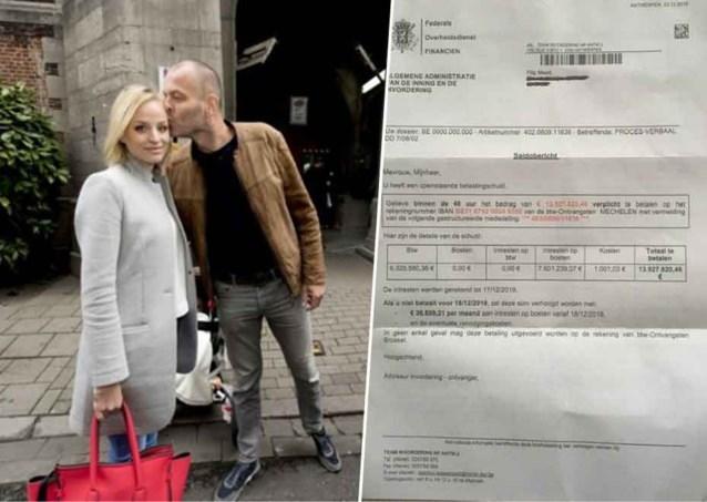 """Vriend van ex-Miss België krijgt factuur van bijna 14 miljoen euro: """"Binnen 48 uur betalen"""""""