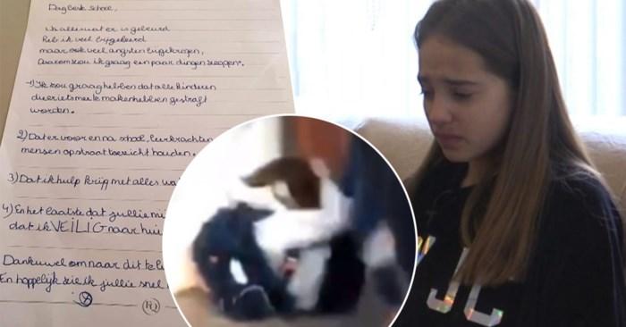In elkaar geslagen Lindsay (13) schrijft emotionele brief aan schooldirectie