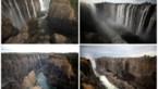 Machtige Victoriawatervallen zijn nog maar een dun stroompje water