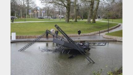 Genkse lichtinstallatie bezwijkt in Brugge onder felle rukwinden