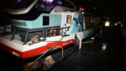 Waterbus botst tegen steiger in Antwerpen: veertien gewonden