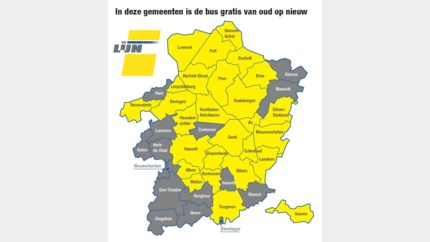 In deze Limburgse gemeenten kunt u gratis met de bus het nieuwe jaar in