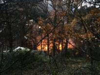 Chalet op camping 't Soete Dal gaat in vlammen op