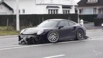 Porsche rijp voor de sloop na ongeval in Lanaken