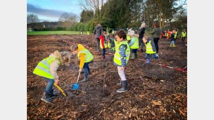 110 bomen als verjaardagscadeau: leerlingen helpen nieuw bos aan te leggen