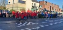 Protest bij TRIXXO in Hoeselt: huishoudhulpen eisen een deftig loon