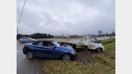 Bestuurster bevrijd na ongeval in Bree