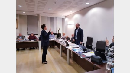 Caroline Penders legt eed af als directeur van Kortessem