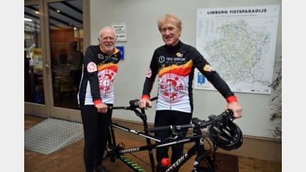 Slechtziende Guido fietst per tandem van Peer naar Kortrijk