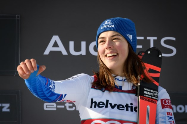 Slovaakse Petra Vhlova wint parallelslalom in het Zwitserse Sankt Moritz