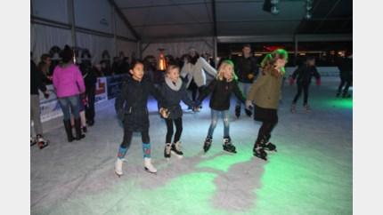 Winterpret bij 'Bree on ice' op het Vrijthof