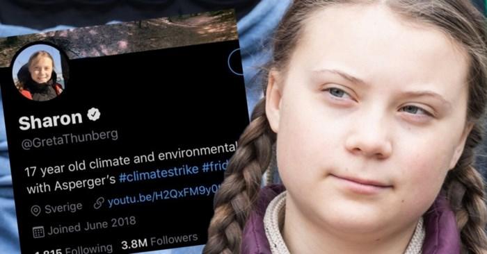 """Waarom Greta Thunberg haar naam plots verandert naar """"Sharon"""""""