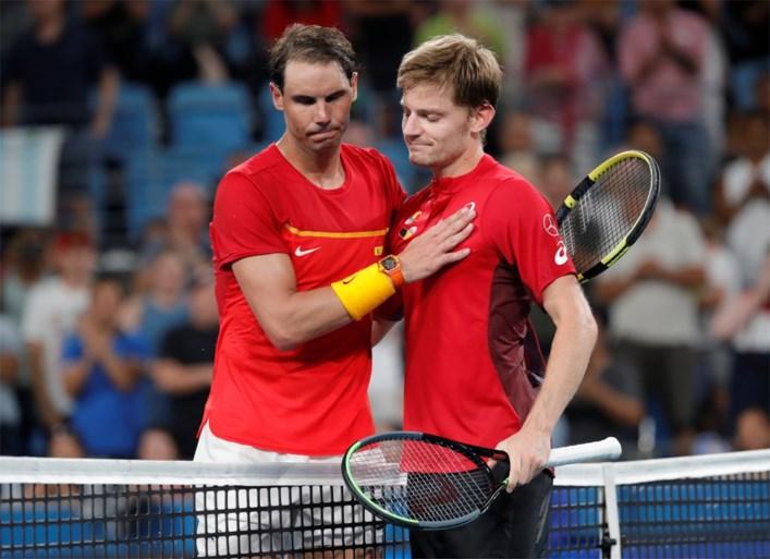Belgen stranden ondanks stunt van Goffin tegen Nadal op een zucht van halve finale in ATP Cup