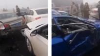 Dichte mist veroorzaakt gigantische kettingbotsing met 31 voertuigen